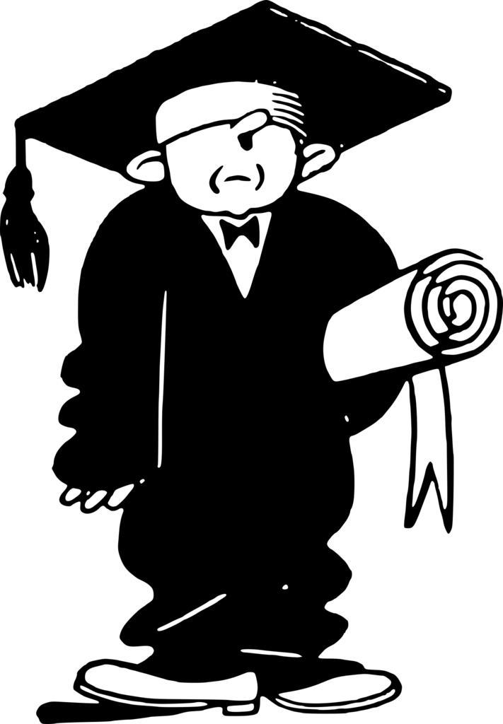 Person graduating