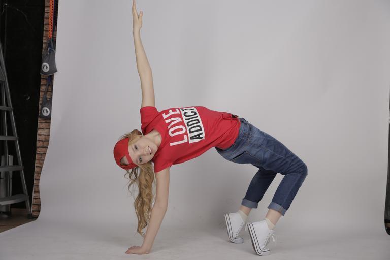 A dancer giving a pose