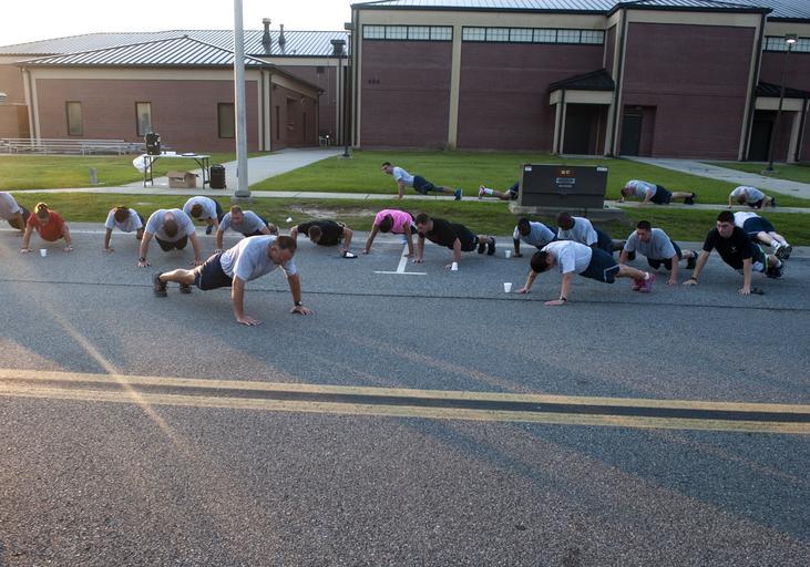 Team push-ups