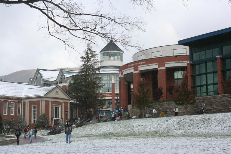 Sanford Mall in the winter