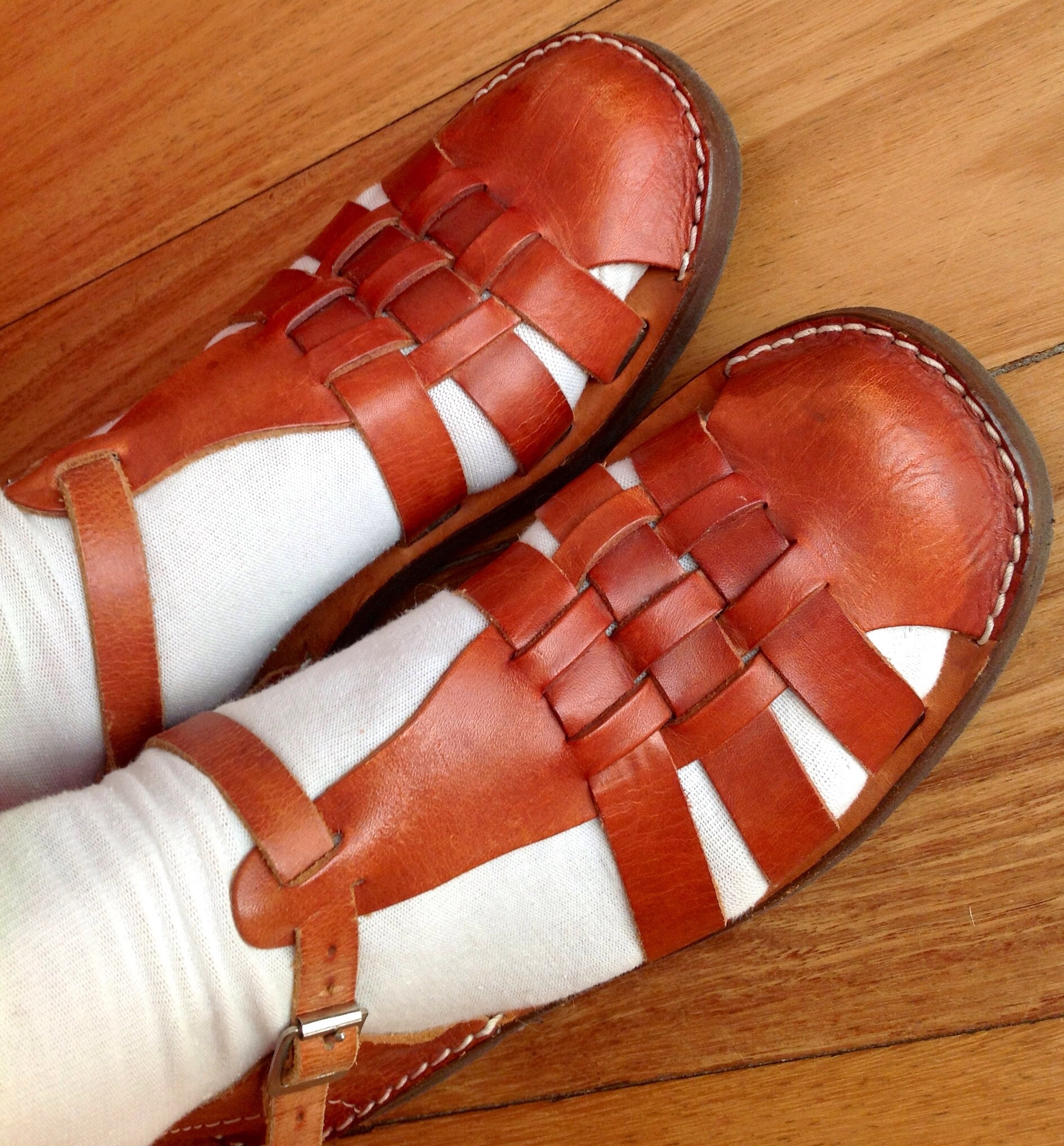 Authentic leather sandals