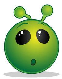 Smiley green alien wow.svg