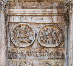 Arch Constantine reliefs, Rome, Italy.jpg