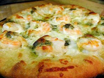 Pizzas cheese pesto shrimp.jpg