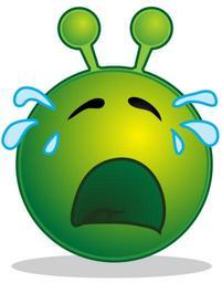 Smiley green alien cry.svg