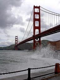 Golden gate bridge in San Francisco seen from fort point.jpg