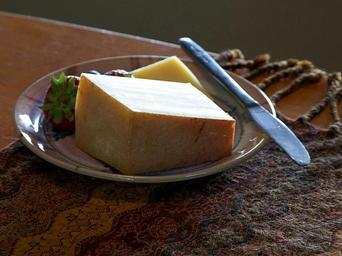 Cheese and strawberry on palte still life photo.jpg
