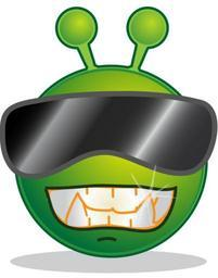 Smiley green alien cool.svg